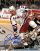Joe Kocur signed New York Rangers 8x10 Photo 94 Cup (Stanley Cup)