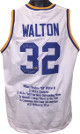Bill Walton signed UCLA Bruins College White TB Custom Stitched Basketball Jersey 2X NCAA Champs w/ Embroidered Stats XL- MAB