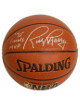 Rick Barry signed Spalding NBA Indoor/Outdoor TB Basketball '75 Finals MVP (Golden State Warriors-silver sig)