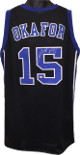 Jahlil Okafor signed Black Custom Stitched College Basketball Jersey #15 XL- Schwartz Hologram