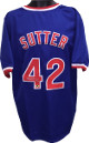Bruce Sutter signed Blue TB Custom Stitched Baseball Jersey HOF 2006 XL