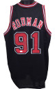 Dennis Rodman signed Black TB Custom Stitched Basketball Jersey XL (middle sig)- JSA Hologram