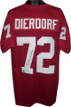 Dan Dierdorf signed Red TB Custom Stitched Pro Style Football Jersey HOF 96 XL