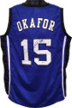 Jahlil Okafor signed Blue Custom Stitched College Basketball Jersey XL- Schwartz Hologram