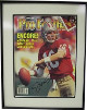 Joe Montana signed San Francisco 49ers 1989 Athlon Cover Custom Metal Framing Limited Edition #3/100- Upper Deck Hologram