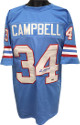 Earl Campbell signed Blue TB Custom Stitched Pro Style Football Jersey XL (blue sig)- Tri-Star Hologram