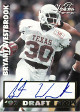 Bryant Westbrook signed 1997 Draft Pick VISION SIGNINGS Football Card (Texas Longhorns)
