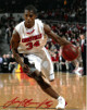 Larry O'Bannon signed Louisville Cardinals 8x10 Photo #34 (red sig)
