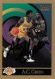 AC Green signed Los Angeles Lakers 1990-91 Skybox Basketball Trading Card #137