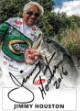 Jimmy Houston signed Quaker State Angler/Fishing Trading Card 2016