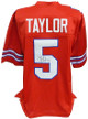 Tyrod Taylor signed Red Custom Stitched Pro Style Football Jersey #5 XL- Schwartz Hologram