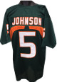 Andre Johnson Green Custom Stitched College Style Football Jersey XL