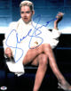 Sharon Stone signed Basic Instinct 16X20 Photo Famous Leg Crossed Right w/ Cigarette- PSA Holo (entertainment/movie memorabilia)