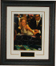Sharon Stone signed Casino 11x14 Photo Premium Leather Framing w/ Nameplate - PSA ITP HOLOGRAM (Rolling Craps Dice)