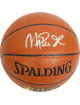 Magic Johnson signed Spalding NBA Indoor/Outdoor TB Basketball (silver sig-gold logo) (Los Angeles Lakers)