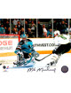 Mike Modano signed Dallas Stars 8x10 Photo #9 (horizontal goal vs Sharks)