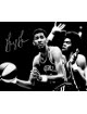 George Gervin signed Virginia Squires ABA 8x10 Vintage B&W Photo (horizontal)