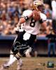 Archie Manning signed New Orleans Saints 8x10 Photo (white jersey passing-vertical-silver sig)- Steiner Hologram
