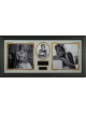 Princess Diana 35x17 Engraved Signature Series Premium Leather Framing - 3 Photo (British Royalty)