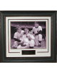 Mickey Mantle, Yogi Berra ,Whitey Ford New York Yankees Vintage B&W 11X14 Photo Premium Leather Framing & V-Groove Matting