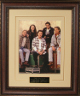 The Eagles 11x14 Photo Premium Leather Framing & V-Groove Matting w/ Don Henley/Glenn Frey
