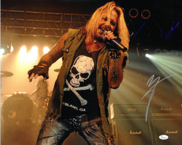 Vince Neil signed Motley Crew 16x20 Photo (silver sig-horizontal)- JSA Hologram (music/entertainment)