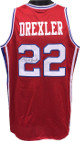 Clyde Drexler signed Red TB College Style Custom Stitched Basketball Jersey XL (w/Blue Trim)