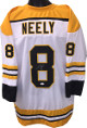 Cam Neely signed White TB Custom Stitched Pro Style Hockey Jersey #8 XL- JSA Witnessed Hologram