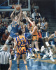 Bill Walton signed UCLA Bruins 8X10 Photo (blue jersey dunk- vertical)
