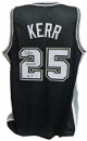 Steve Kerr signed Black Custom Stitched Pro Basketball Jersey NBA Champs 99, 03 XL