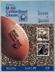 Tennessee Volunteers vs Arkansas Razorbacks College Football 54th Mobil Cotton Bowl Classic Game Program- January 1, 1990