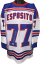 Phil Esposito signed White TB Custom Stitched Pro Hockey Jersey HOF 1984 XL- JSA Hologram