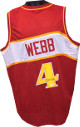 Spud Webb signed Red TB Custom Stitched Pro Basketball Jersey XL- JSA Hologram