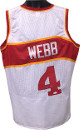 Spud Webb signed White TB Custom Stitched Pro Basketball Jersey XL- JSA Hologram