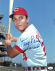 Tony Perez signed Cincinnati Reds 11x14 Photo HOF 2000- JSA Hologram #CC08494 (bat on shoulder)