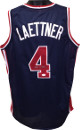 Christian Laettner signed Team USA Olympic Gold Dream Team Navy Custom Stitched Basketball Jersey XL- JSA Hologram