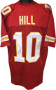 Tyreek Hill signed Red Custom Stitched Pro Style Football Jersey #10 (XL) - JSA Witnessed Hologram