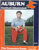 Auburn Tigers vs Tennessee Volunteers Football Illustrated College Football Game Program- September 25, 1976- minor cover wear