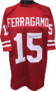 Vince Ferragamo signed Red TB Custom Stitched College Football Jersey XL- JSA Witnessed Hologram