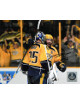 Mike Fisher signed Nashville Predators 2017 Stanley Cup Final 8x10 Photo #12 (right side sig-w/ Rinne hug pose)
