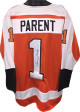 Bernie Parent signed Orange TB Custom Stitched Pro Hockey Jersey HOF 84 XL- JSA Witnessed Hologram