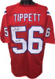 Andre Tippett signed Red TB Custom Stitched Pro Style Football Jersey Pats HOF- JSA Witnessed Hologram