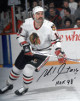 Michel Goulet signed Chicago Blackhawks 8x10 Photo #16 HOF 98