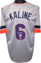 Al Kaline signed Gray TB Custom Stitched Baseball Jersey XL- JSA Witnessed Hologram