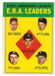 1963 Topps 1962 AL E.R.A. Leaders Baseball Trading Card #6 (Whitey Ford/Robin Roberts)