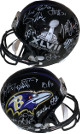 2012 Baltimore Ravens SB XLVII Logo Team signed FS Rep Helmet 27 sigs – JSA ITP W458521 Terrell Suggs, Ray Rice imperfect
