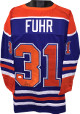 Grant Fuhr signed Blue TB Custom Stitched Pro Hockey Jersey #31 XL (bottom sig)- JSA Witnessed Hologram