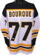 Ray Bourque signed White TB Custom Stitched Pro Hockey Jersey #77 XL- JSA Witnessed Hologram