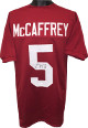 Christian McCaffrey signed Red Custom Stitched College Football Jersey #5 XL- JSA Witnessed Hologram