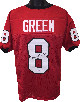 AJ (A.J.) Green signed Red Custom Stitched College Football Jersey #8 XL- PSA Hologram